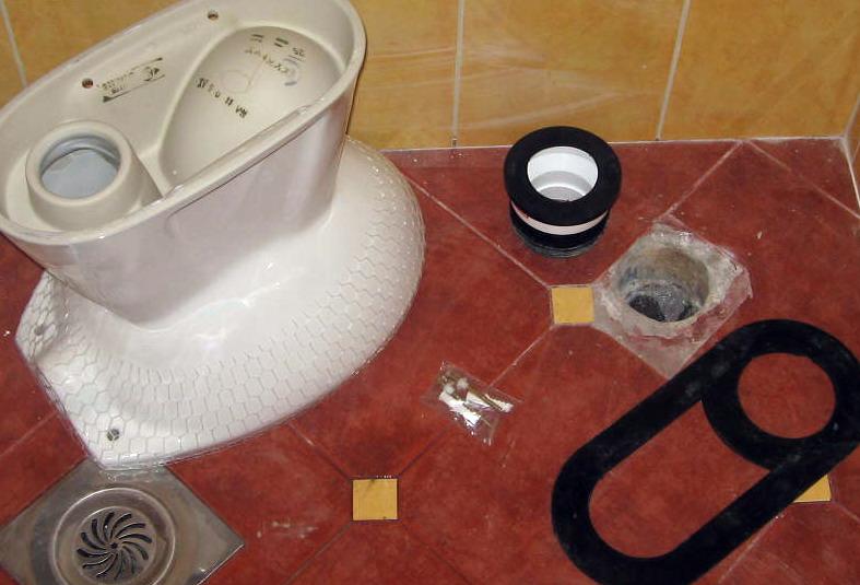 WC šolje montaža
