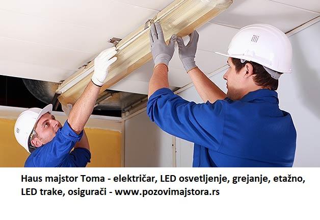 Montaža lustera lampi LED