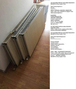 Panelni aluminijumski radijatori Savamala