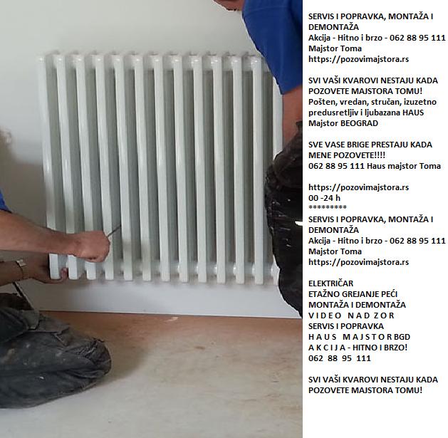 Izmeštanje radijatora grejanje Beograd