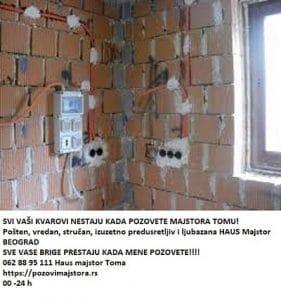 Uvodjenje struje elektro instalacija cena akcija