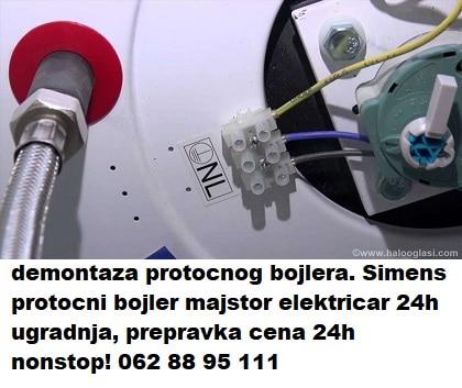 Simens protocni bojler majstor elektricar 24h ugradnja