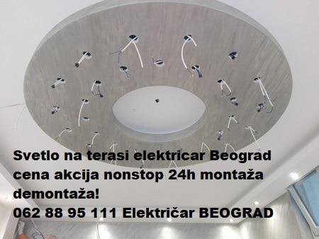 Svetlo na terasi elektricar Beograd cena