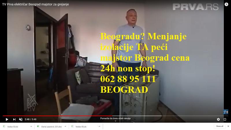 Menjanje izolacije TA peći majstor Beograd cena 24h non stop!