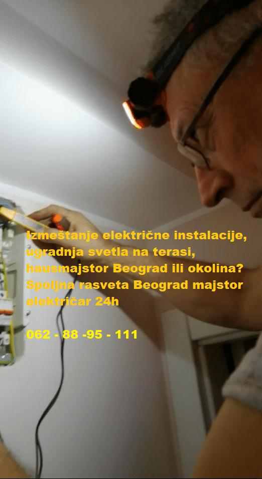 Spoljna rasveta Beograd majstor električar 24h