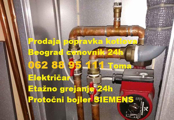 Prodaja popravka kotlova Beograd cenovnik 24h