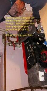 Nema pritiska vode sistem grejanja Beograd
