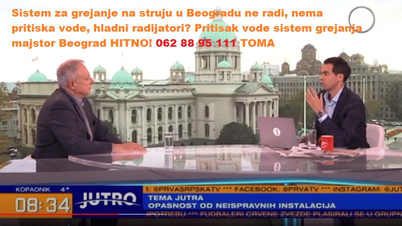 Pritisak vode sistem grejanja majstor Beograd HITNO!