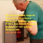Pumpa za grejanje ne radi majstor Beograd