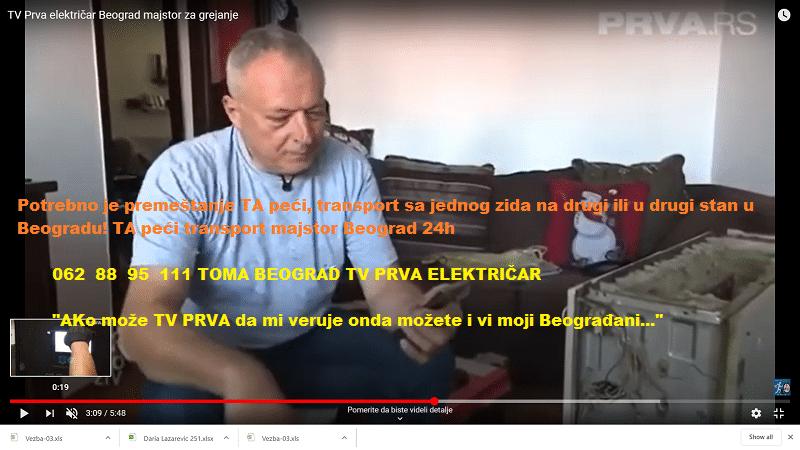 TA peći transport majstor Beograd 24h
