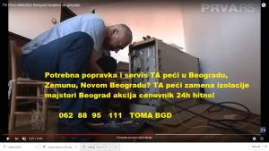 TA peći zamena izolacije majstori Beograd