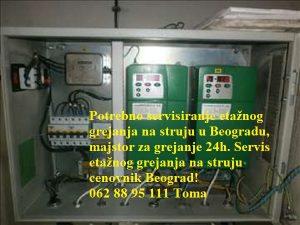 Servis etažnog grejanja na struju cenovnik Beograd!